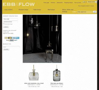 EBB & FLOW webshop forside