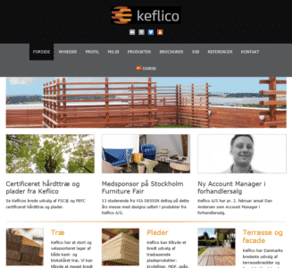 Keflico.com tablet screenshot