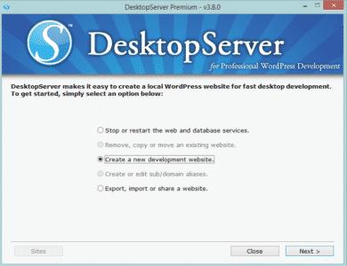 DesktopServer - lokal server til WordPress