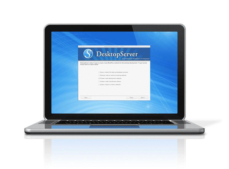 desktopserver på laptop