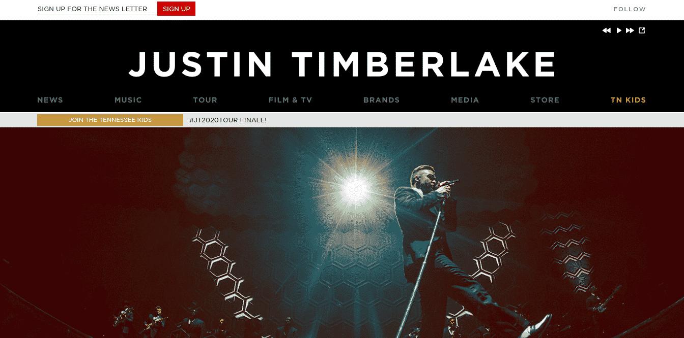Justin Timberlake - justintimberlake.com