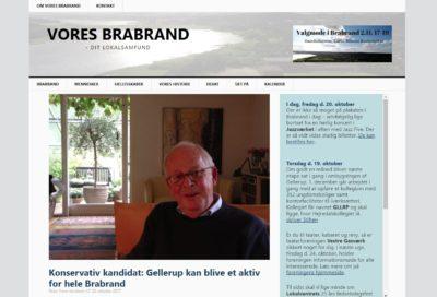 Lokalmediet Vores Brabrand, et screenshot