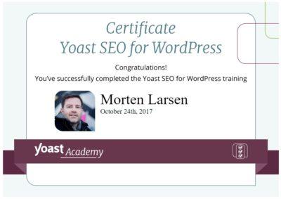 certificeret i Yoast SEO