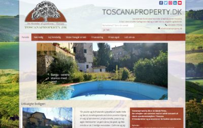 Toscana Property website