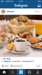 En cafe kan få flere følgere på Instagram med en konkurrence