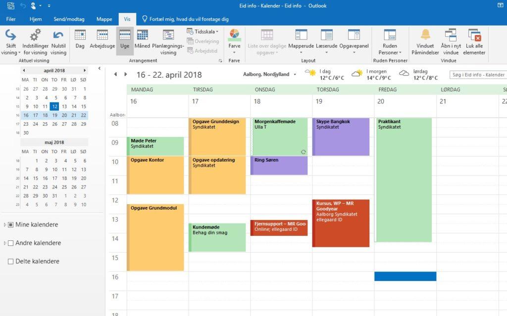 Hvordan skifter jeg automatisk farve på aftaler i Outlook? 1
