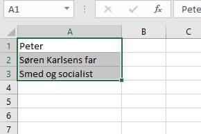 Hvordan indsætter jeg flere linjer i én celle i Excel? 1