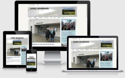 Lokalmediet Vores Brabrand, sreenshot af forside i responsivt design