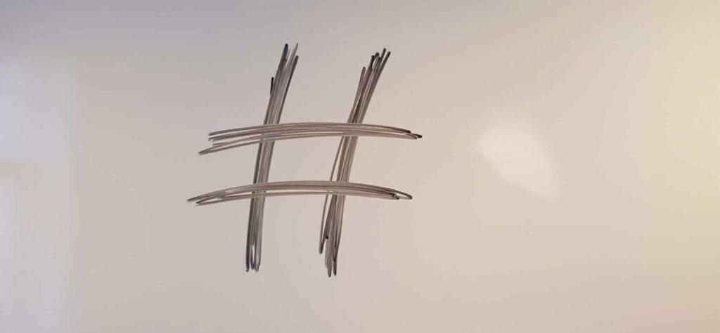 hashtag på tavle