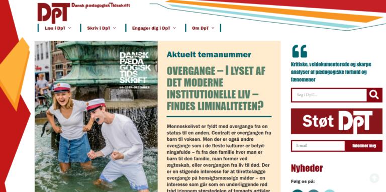 Dansk Pædagogisk Tidsskrift forside