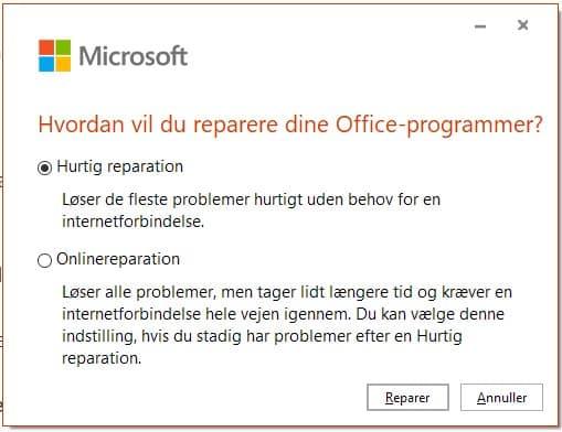 Outlook søgning virker ikke 4