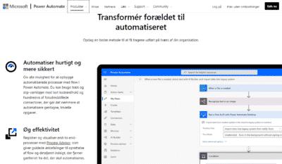 screendump fra Power Automate websted
